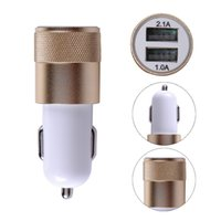 Metall-Legierung Dual USB Car Charger LED Licht 5V 3.1A 2-Ports Sync Ladeadapter Bullet Universal für iphone6 ​​und Samsung S6 HTC