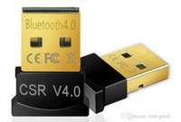 csr usb venda por atacado-Mini Adaptador Bluetooth USB V 4.0 Dual Mode Dongle Sem Fio CSR 4.0 USB 2.0 / 3.0 Para Windows 10 8 Win 7 Vista XP 32/64 Preto