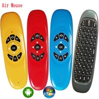 Wholesale Air Mouse Gyroscope - 4 Colors Stocks! C120 Fly Air Mouse 6 Axis Sensor Gyroscope QWERTY Wireless keyboard Mini Remote Control +Air mouse + Keyboard