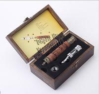 ingrosso e atomizzatore di fuoco-Ciaberatrice elettronica E-Vision II in legno Batteria a tensione variabile 900mAh IC30 Atomizzatore EGO Filo con scatola regalo in legno