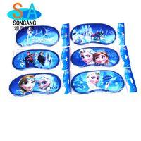 Wholesale Child Sleep Mask - Frozen Elsa Anna eye patch Mask Sleeping Blindfold travel Shade Padded Sleep Aid Eye Cover children studentversion christmas gift .L0587B