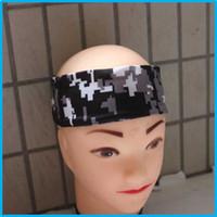 Wholesale Wholesale Baseball Armbands - Baseball Stitches digital camo headband baseball Outdoor Sport Stretch headband Elbow Extended armband compression sleeve A variety of color
