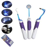 3 pezzi set Kit orale LED - Dental Mirror + Tooth Stain Eraser + Plaque Rimuovere CXN