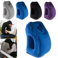 Wholesale Train Pillows - Inflatable Travel Pillow Creative Cars Buses Airplanes Trains Office Napping Outdoor Camping Portable Head Neck Rest Pillow Free DHL WX9-173