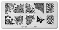 nagelstanzplatten serie großhandel-Nagel-Schablonen-Cooi Reihen-Nagel-Kunst-Platten-Edelstahl-Bild Konad Nagel-Kunst, die Schablone DIY Nagel-Werkzeug stempelt