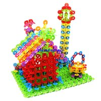 Wholesale 450pcs Children Baby Snowflake Building Blocks Bricks toys DIY house castle kids Educational Learning Toys gifts