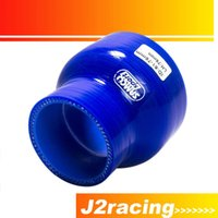 """Wholesale Silicone 76mm - J2 RACING STORE-BLUE 2""""-3"""" 51mm-76mm SILICONE HOSE STRAIGHT REDUCER JOINER COUPLING PQY-SH02030"""