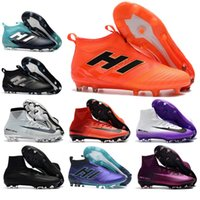 Günstige Herren Outdoor High Ankle Boots CR7 Mercurial Superfly V FG Neymar NlKE Schuhe ACE 17 Purecontrol Messi 17.1 ADDs Cleats