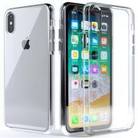 Wholesale Iphone Case Plug Dust - Crystal Clear TPU Phone Case With Dust Plug For iPhone X Ultra Thin Transparent Soft TPU Case Fundas Capa