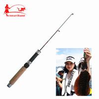 Wholesale Shrimp Poles - ishing Fishing Rods Promotion New Arrival 50cm 3Section 43g Pocket Portable Spinning Fishing Pole Ultra Light Shrimp Fishing Stick Fish...