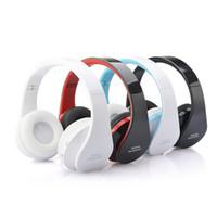 headband do telefone da pilha venda por atacado-Moda fone de Ouvido Estéreo de Música Bluetooth Fone de Ouvido Sem Fio Ajustável Design Dobrável Headband com Microfone para Telefones Celulares MP3