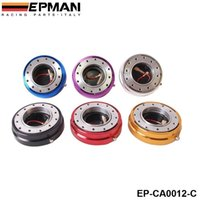 Wholesale EPMAN Hot Selliing Thin Version Steering Wheel Quick Release For Universal Blue Red Black Golden Silver Purple EP CA0012 C
