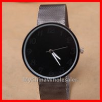 relojes de metal negro para mujer. al por mayor-Relojes de moda Negro Metal Iron Net Web Mesh Band Moda Simple reloj de pulsera de cuarzo Horas Mens Womens Unisex Relojes para Mujeres y Hombres