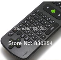Wholesale Dropshipping Wireless Mouse - Wholesale-New 1pcs lot Russian Measy RC11 Air Mouse Keyboard 2.4GHz Wireless Gyroscope Handheld Remote Control for TV BOX Dropshipping