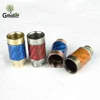 Wholesale E Cig Mix - Carbon Fiber Drip Tips Wide Bore drip tip 510 EGO SS carbon fiber Mouthpiece for CE4 CE5 RBA RDA atomizer E Cig & ATTY drip tips mixed color