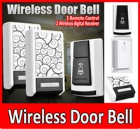 Wireless Door Bells Wireless Door Bell - 1 Controle Remoto 2 Wireless Digital Receiver Doorbell 36 Chimes Songs Waterproof Wireless Doorbell.
