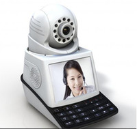 Wholesale Wireless Ptz Webcam - Network Video Phone Review IP Camera Baby Monitor Webcam All-in-one Videophone Alarm P2P Vision Pan Tilt PTZ Video Recording 64G