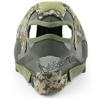 Wholesale Steel Face Protection - Wargame full face protection face steel mesh head safety Mask Airsoft Paintball BB Wargame head face protector