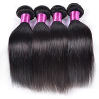 Wholesale Brazil Remy Hair - Brazilian Virgin Hair Straight 3 4pcs Lot Unprocessed 7A Brazil Human Hair Weave Bundles Natural Black Silky Straight Brazil Remy Hair Wefts