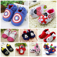 Wholesale Baby Shoes Thick Sole - Wholesale-Fashion Baby Shoes Thick Cotton Slip-On Soft Sole Skid Proof Cute Girl Toddler Shoes First Walkers For Baby Cartoon lovely r765