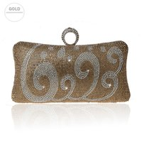 New Strass Ring Buckle Handbag Fashion Dinner Clutch-Bag-Qualitäts-Abendtasche Hochzeit Braut Purse