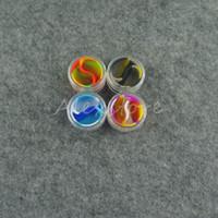 dab óleo de cera bho jar venda por atacado-10 pcs recipiente de silicone Acrílico 5 ml 7 ml 10 ml de cera concentrado recipientes de silicone ABS non-stick dab bho frascos de óleo ferramenta de armazenamento jar titular vape