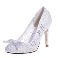 zapatos de baile de boda de marfil al por mayor-2019 Moda Barato Marfil Blanco Negro Zapatos de Boda 9.3 cm Tacones Altos Mujeres Prom Party Boda Nupcial Zapatos de Baile de Noche 5623-10