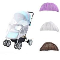 cobertura de rede bebê venda por atacado-Crianças de verão carrinho de bebê carrinho de bebê rendas mosquiteiro net acessórios cortina tampa do carrinho de transporte Anti-mosquito C3048