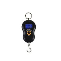 Wholesale Mini Scale Kg - Wholesale-1 pcs black color Hanging Gourd Mini Electronic Digital Hanging Luggage Scale BackLight Pocket Weight Kg Lb