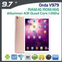 Wholesale-Onda V979 Android 4.2 Der dünnste 9,7-Zoll-Tablet IPS Retina Display Amlogic Quad Core 2048x1536 1.0GHz 1GB 16GB HDMI