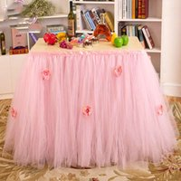 Wholesale Snowflake Skirts - Queen Snowflake Tutu Table Skirt Custom Winter Wonderland Tulle Tutu Table Skirt Wedding Birthday Baby Shower Party Decoration