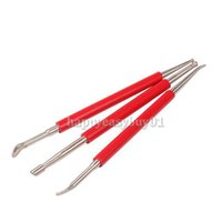 Wholesale 3 Pieces Stainless Steel Polymer Clay Craft Tool Wax Clay Sculpting Tool Set Pottery Carving Making Tool BHU2