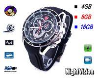 Wholesale Spy Wrist Watches - 100% NEW 8GB 16GB Spy 1080P IR Voice Actived Wrist fashion Watch Camera Mini DVR hidden pinhole camera S5