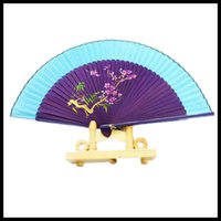 Wholesale Famous Folk Art - Chinese Silk Fan Bamboo Handmade Fan Chinese Style Arts and Crafts Famous Home Decor Folding Fans Bridal Accessories Wedding Party Gifts