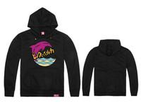 Wholesale Cheap Pink Hoodie - Wholesale-Men hiphop Pink dolphin Hoodies autumn winter high fashion brand cheap print long full sportswear sweatshirt