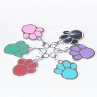Wholesale Footprints Pendant - 2015 Hot! New zinc alloy Paw prints pendant diy pendant charms Pet Tag Footprints type dog tags