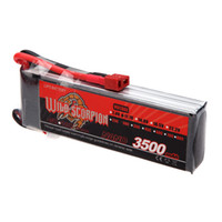 Wholesale Lipo Max - New Wild Scorpion Lipo Battery 11.1V 3500mAh 30C MAX 40C 3S T Plug for RC Car Airplane Helicopter Part order<$18no track