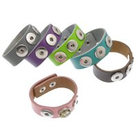 Wholesale Glow Bracelet Personalized - DIY Personalized Noosa Chunks Snaps Interchangeable Jewelry Leather Watchband Snap Buttons Bracelets For Women And Men B32945-50
