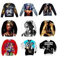 Wholesale Sweat Crewneck - Wholesale-Fashion men women pullover hip-hop hoodies print 2pac tupac 3d sweatshirt long sleeve crewneck casual sweats top plus size S-XXL