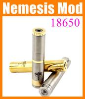 Wholesale Nemesis Cig - e-cig Nemesis Mod 18650 Mechanical mod The Avengers Mod Body Copper Gold stainless steel Black Nemesis Mod 510 thread E Cigarette Mod TZ027