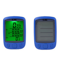 Wholesale Multifunction Bicycle Computer - New Waterproof 28 Multifunction Wireless Bike Bicycle Cycling Computer Odometer Speedometer LCD Backlight Backlit Computer H11025