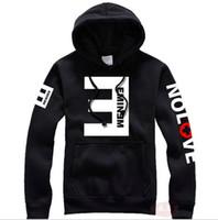 Wholesale Eminem Sweatshirts - 2016 Winter Men's Fleece Hoodies Eminem Printed Thicken Pullover Sweatshirt Men Sportswear Fashion Clothing