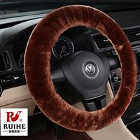 New Arrival Bonito Roda Carros Car Heated Steering Wheel Cover Preto Personalizado Inverno Fur Aquecimento Steering Wheel Cobre Hot