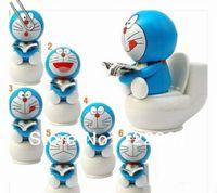 Wholesale Dora Toys Plastic - Wholesale-Wholesale! Solar Toy Solar Doraemon Toy Solar Doll DORA A Dream Doraemon Toilet Gens Nod Doll 6pcs lot Free Shipping