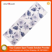 Wholesale Cheap Priced Blankets - 2016 cheap Wholesale price! Custom Sublimation Printed anti slip yoga blanket thicker gsm 100pcs a lot by DHL Delivery