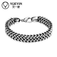 Wholesale Jade Beads For Men - snake styles high quality men bangles link chains H025 Fashion 316L stainless steel bracelet for man