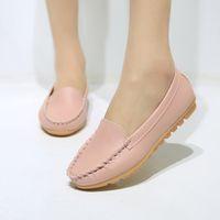 Wholesale Nurse Shoes Man - Wholesale-2016 new Autumn Flat Nurse shoes Peas shoes Tendon Mom Shoes Casual Shallow mouth women flats Peas shoes