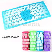 "Wholesale Macbook Keyboard Colors - Wholesale-Changing colors US keyboard skin cover For Apple Macbook Pro Air Retina 13"" 15"" 17'' keyboard protector"