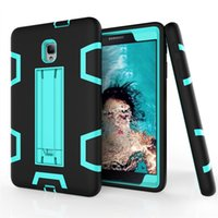 Wholesale Tablet Hard Silicon Case - Tablet Case For Samsung Galaxy Tab A 8.0 Inch T380 T385 Cover Armor Hard Soft Silicone 360 Full Body Protection With Kickstand