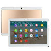 mtk 2g 3g llamada tablet pc al por mayor-Llamada de teléfono 10 pulgadas Tablet PC 3G Android Quad Core 1 GB RAM 16 GB ROM Bluetooth Bluetooth IPS IPS Pantalla falsa 2G + 32G Phablet
